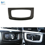 For Bmw X5 X6 F15 F16 Console Carbon Fiber Headlight Switch Button Frame Cover