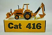 150 Nzg No285 Caterpillar Cat 416 Back-hoe Tractor Loader W/ Work Features Mib