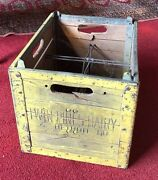 Old Twin Pines Dairy Milk Bottle Crate - Heavy Wood And Metal - Detroit Michigan