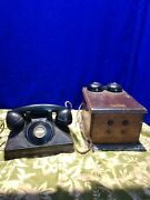 Vintage 1930-1940 Northern Electric Phone And Ringer Made In Canada
