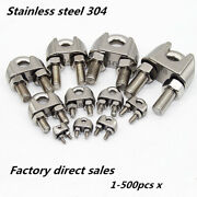 304 Stainless Steel U-bolt Wire Rope Clip Cable Clamp 1pcs-500pcs X