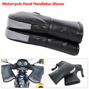 Motorcycle Handlebar Gloves Hand Fur Muffs Winter Thermal Warm Mitts Windproof