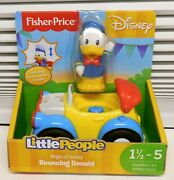 Rare Bouncing Car Duck Magic Of Disney Fisher Price Little People Vehicle New