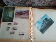 Railroad Trail Stamps Pictures Postcard Trip Ticket Lg Scrapbook Wow