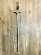 Knights Of Columbus Ceremony Sword Engraved Blade W/sheath Pps Wow