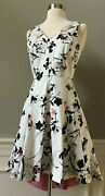 Nwt 165 White House Black Market Cotton Sateen Fit And Flare Hi Low Petite Dress