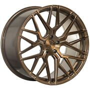 20andrdquo Rohana Rfx10 Brushed Bronze Concave Rims For Cadillac Cts Sedan Coupe