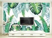 3d Tropical Leaves Wallpaper Wall Mural Removable Self-adhesive Sticker 199