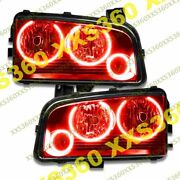 Oracle Triple Halo Headlights Non Hid For Dodge Charger 05-10 Red Led