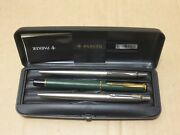 Vintage Parker Ballpoint Pens Set Of Three 3 With Case