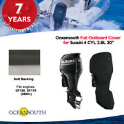 Oceansouth Outboard Storage Full Cover For Suzuki 4 Cyl 2.8l 20 Leg