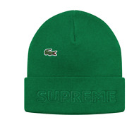 Dswt Supreme Fw19 Lacoste Beanie Green In Hand 100 Authentic