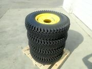 Snow Wolf Snow Tires Model 100 Wolf Paw For Skid Steer Loaders 8 Bolt Pattern