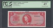 Trinidad And Tobago One Dollar L.1964 P26as L/q Specimen Extremely Fine