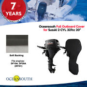 Oceansouth Outboard Storage Full Cover For Suzuki 2 Cyl 327cc 20 Leg