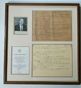 John F Kennedy 2 Pages Of Handwritten Notes From Friend Powers Re Assassination