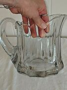 Heisey Glass Colonial Crystal Pitcher 7 3/4 Tall 6 Wide 9 Long
