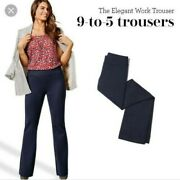 Cabi Womens Size 10 Classic Navy Blue 9 To 5 Style Trouser Pants Stretch 5312