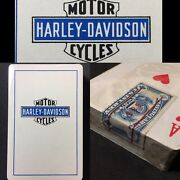 1st Ed. Authentic Rare Harley Davidson Motorcycle Sealed Antique Playing Cards