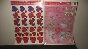 Vintage 1997 Beistle/2000 Classic Clings Valentine's Day Window Decorations Lot