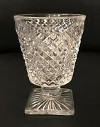 Eight Westmoreland English Hobnail Depression Glass Crystal Footed Tumblers