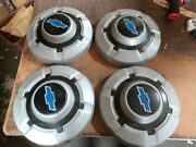 1968-72 Chevrolet Painted Silver Hubcap Hubcaps 3/4 1 Ton Take Offs Set Of 4 12