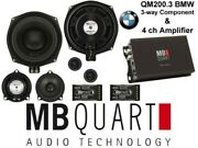 Mb Quart Speakers 4ch Amp Bmw Straight Fit Qm200.3 Na1-320.4 Cables And Converter