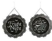 Wall Decor Fright Night / Eat Drink And Be Scary