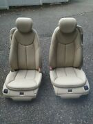 03-08 R230 Mercedes Sl500 Left Right Seats Seat Set Complete Leather Beige 205a