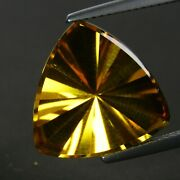 7.56cts Natural Attractive Citrine 15.3mm Trillion Concave Gemstone From Brazil