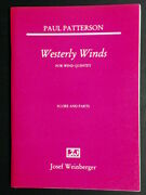 Westerly Winds For Wind Quintet Paul Patterson. New-old Stock - Free Ship