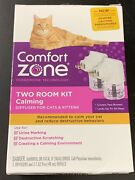 Comfort Zone Calming Diffuser For Cats And Kittens Two Room Kit 3506
