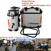 Motorcycle 36l Side Cases Saddlebag Rear Luggage Bag Panniers Side Boxes For Bmw