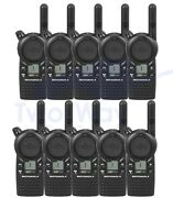 10 Motorola Cls1110 Two Way Radios 1 Channel Uhf Rechargeable