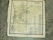 Vintage 1867 Ossining Sing Sing Westchester New York, Map Measures 21x20 Inches