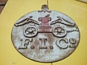Fireman Solid Metal Cast Iron Patina Plaque Sign Aprox 13 Tall Mancave Gift