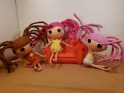 Lot Of 3 Lalaloopsy Dolls Full-size Plus Couch