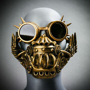 Steampunk Spike Goggles Respirator Cosplay Halloween Burning Man Party Face Mask