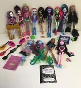 Monster High Doll Lot Of 13 Dolls And Accessories Cleo Draculaura Clawdeen Spectra