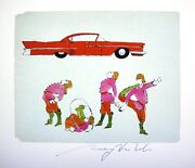 Andy Warhol Hand Signed Signature Four Male Costumed Print