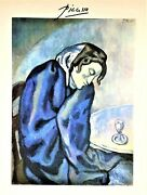 Pablo Picasso Hand Signed Signature The Absinthe Drinker Print