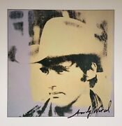 Andy Warhol Hand Signed Signature Dennis Hopper Color Plate