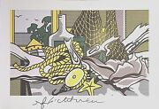 Roy Lichtenstein Hand Signed Still Life With Net Shell Rope And Pulley Print