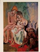Pablo Picasso Hand Signature The Family Of Acrobats With Ape Print