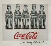 Andy Warhol Hand Signed Signature Five Coke Bottles Print