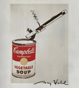 Andy Warhol Hand Signed Signature Campbelland039s Soup Can With Can Opener Print