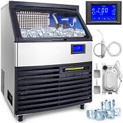 Ice Cube Maker Machine 200kg/440lbs Commercial Heat Insulation Microcomputer