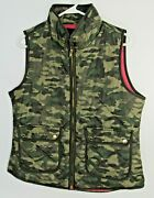 Cynthia Rowley Women's Size Large Vest Camouflage Fashion Hot Pink Lining
