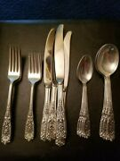 Milburn Rose By Westmoreland Sterling Silver 20pc Place Setting, Modern Blade