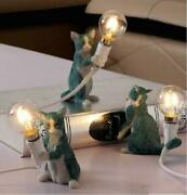 Creative Kitty Table Lamp Small Cat Led Desk Light Bedside Resin Decor Lamps New
